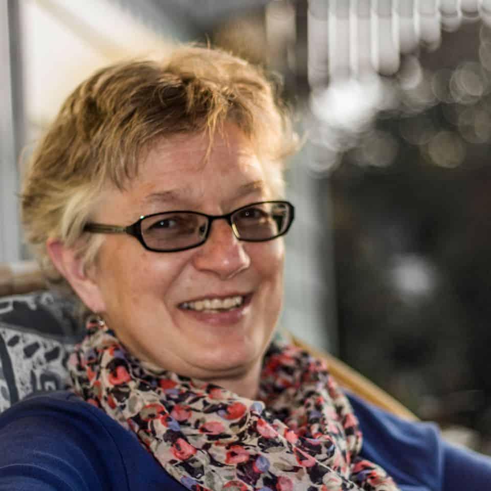 Image of Jo Seaton, in a testimonial for a non-profit organization website design.