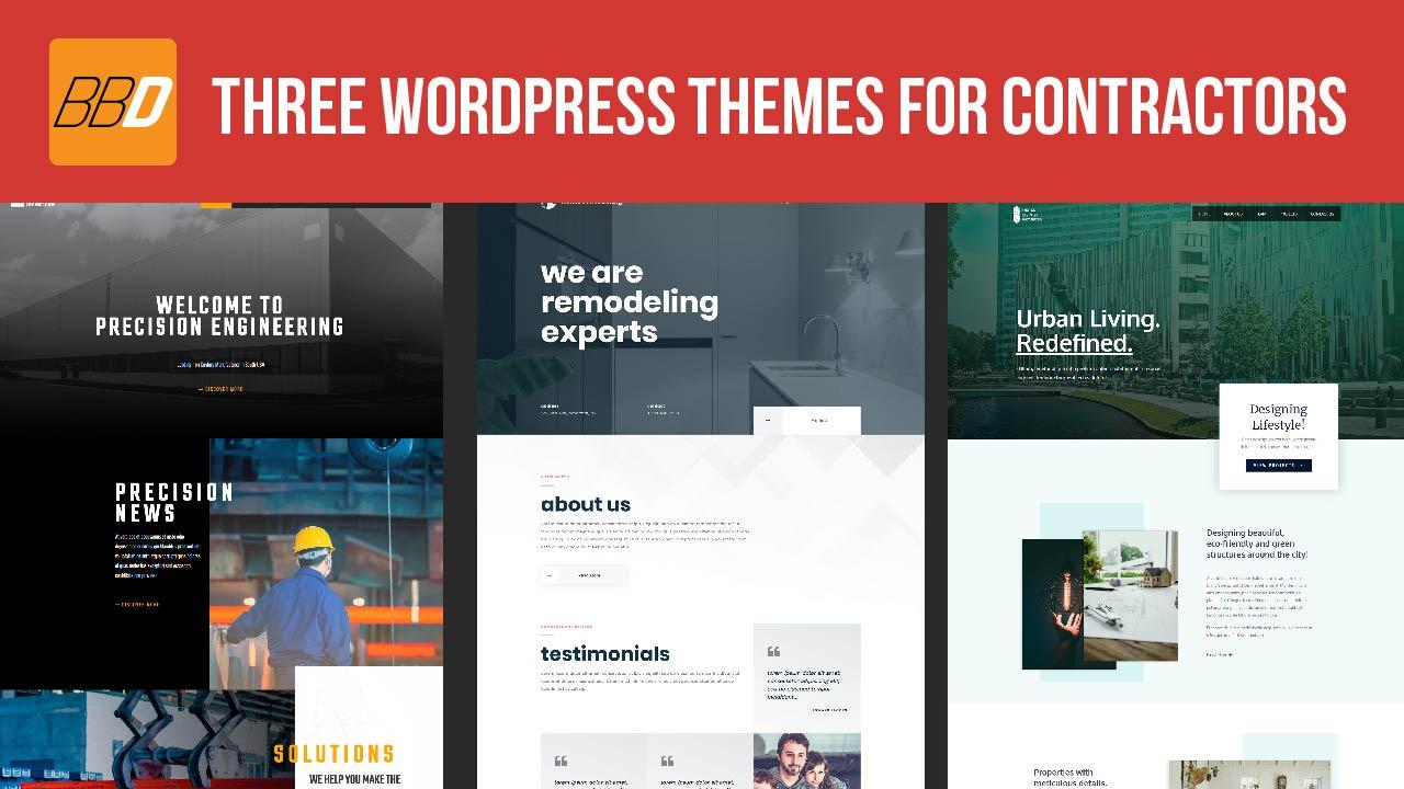 Three New WordPress Themes for Contractors