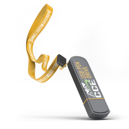 Connell Custom Exteriors USB Pen Drive