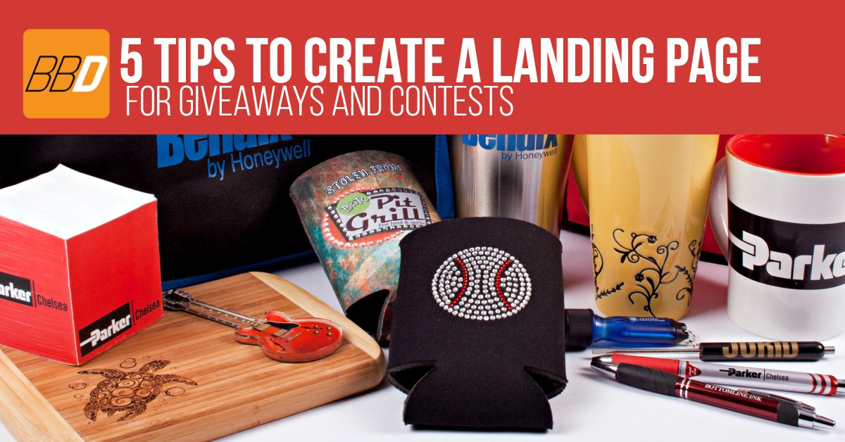 Tips to Create a Landing Page for Giveaways and Contests using Promotional Products