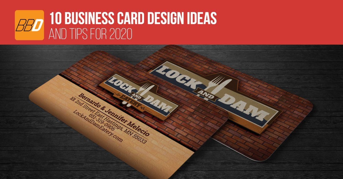 10 Business Card Design Ideas and Tips for 2020