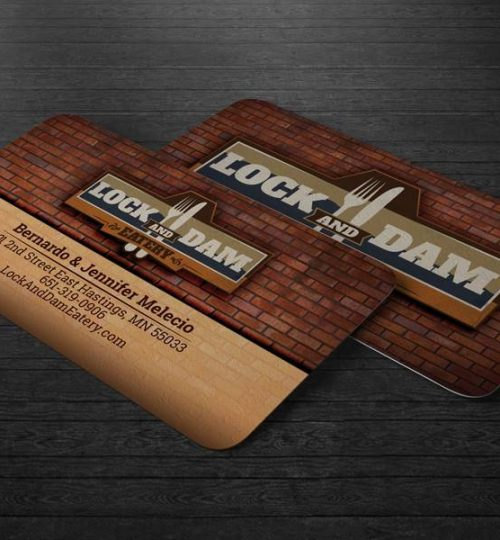 Lock and Dam Eatery, Business Cards, Hastings, MN