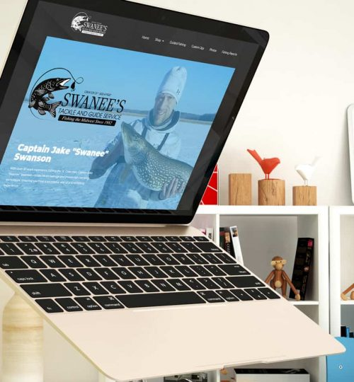 E-commerce website design for a small business.