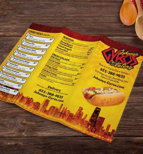 Johnny's Gyros and Chicago Style Eatery Menu, Red Wing, MN